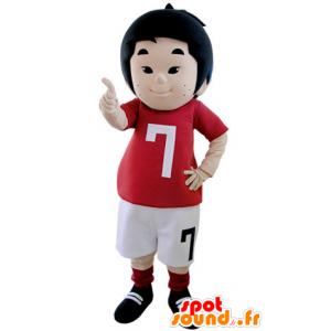 Mascot pikkupoika pukeutunut yhtenäinen jalkapalloilija - MASFR031405 - Maskotteja Boys and Girls