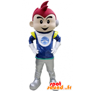 Boy Mascot holdt astronaut - MASFR031407 - Maskoter gutter og jenter