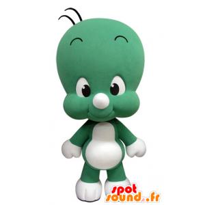 Mascot kleinen grünen und weißen Mann, nett und lustig - MASFR031419 - Menschliche Maskottchen
