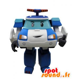Polizeiauto Maskottchen Weise Transformers - MASFR031431 - Maskottchen von Objekten