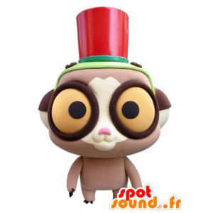 Mascotte de lémurien avec de grands yeux jaunes - MASFR031433 - Mascottes non-classées