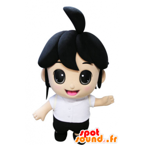 Mascot brunette girl. Mascot child - MASFR031437 - Mascots child