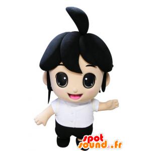 Mascot brunette girl. Mascot child