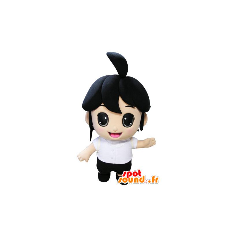 Mascot brunette girl. Mascot child - MASFR031437 - Mascots child