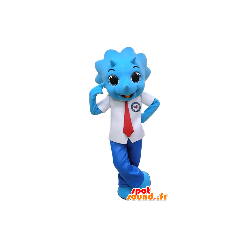 Purchase Blue rhinoceros mascot, dressed in suit and tie in The ...
