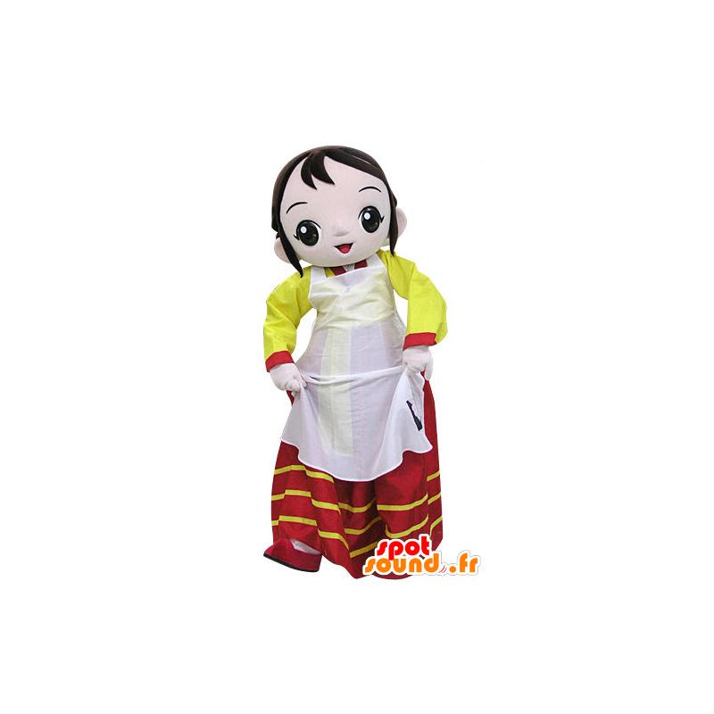 Mascot woman wearing a colorful dress - MASFR031458 - Mascots woman