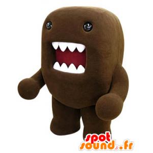 Mascotte de Domo Kun, monstre marron avec une grande bouche - MASFR031462 - Mascottes Monstre marin