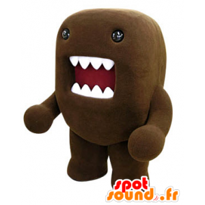 Mascot Domo Kun, brun monster med en stor munn