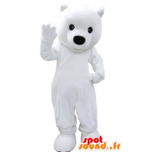 Mascot polar bear, white teddy bear - MASFR031477 - Bear mascot