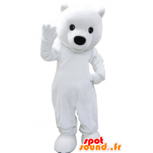 Mascot polar bear, white teddy bear