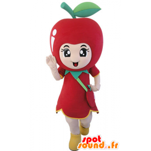 Giganten rødt eple maskot. Mascot frukt - MASFR031488 - frukt Mascot