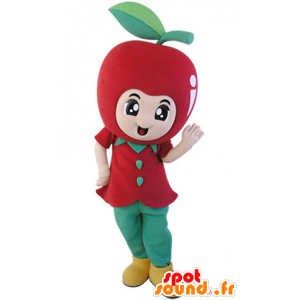 Giant red apple mascot. Mascot fruit - MASFR031489 - Fruit mascot