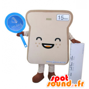 Giant sandwich bread slice mascot - MASFR031495 - Food mascot
