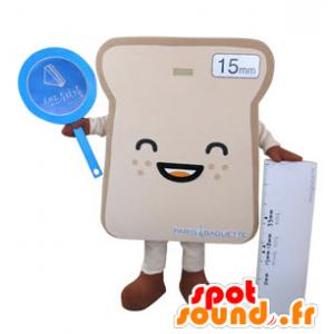 Mascotte de tranche de pain de mie géante - MASFR031495 - Mascotte alimentaires