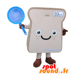 Giant sandwich bread slice mascot - MASFR031496 - Food mascot