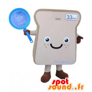 Giant paahtoleivän viipale Mascot - MASFR031496 - ruoka maskotti