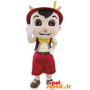 La mascota de Pinocchio famosa caricatura de marionetas