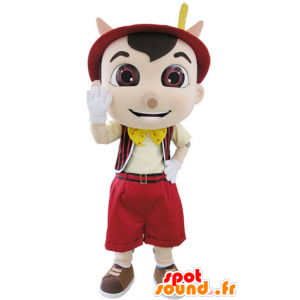 Mascot Pinocchio famous puppet cartoon