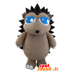 Mascot gray and brown hedgehog with pretty blue eyes - MASFR031511 - Mascots Hedgehog