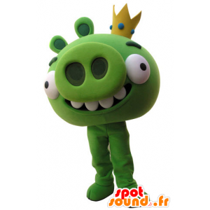 Maskotti Angry Birds. vihreä sika maskotti - MASFR031516 - sika Maskotteja