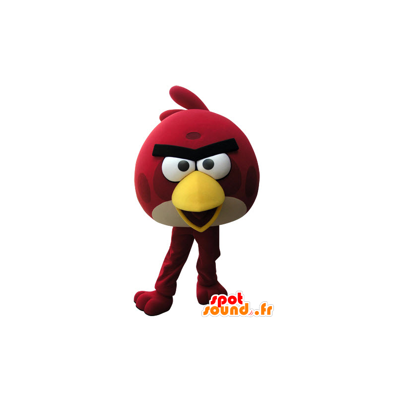 Mascot of red and yellow bird of the game Angry Birds - MASFR031517 - Mascot of birds
