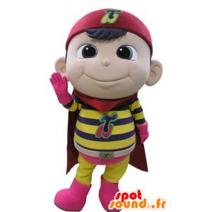 Mascotte bambino vestito da supereroe