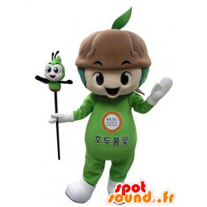 Mascotte groene plant met bodem - MASFR031520 - mascottes planten
