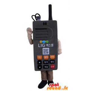 Mascot walkie-talkie, grijs-reus