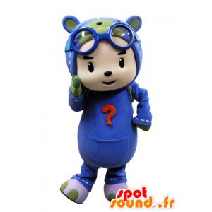 Mascot criança vestida como um pára-quedista. piloto Mascot - MASFR031537 - mascotes criança