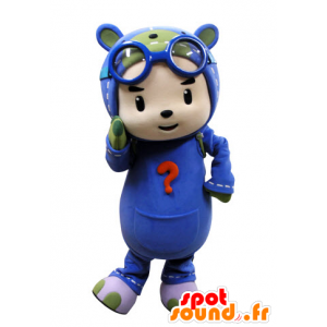Mascot kind gekleed als een parachutist. Pilot Mascot - MASFR031537 - mascottes Child