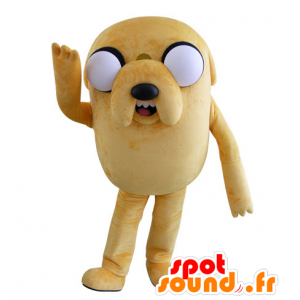 Maskotka duży żółty pies spojrzenie na myśli z dużymi oczami - MASFR031538 - dog Maskotki