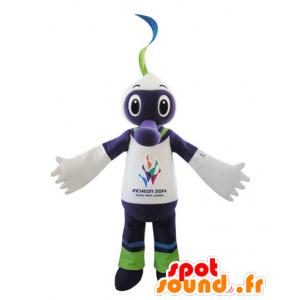 Púrpura mascota de la criatura, blanco y verde - MASFR031545 - Mascotas de los monstruos