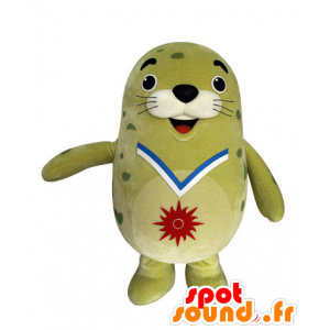 Mascot green sea lion, plump and funny seal - MASFR031548 - Mascots seal