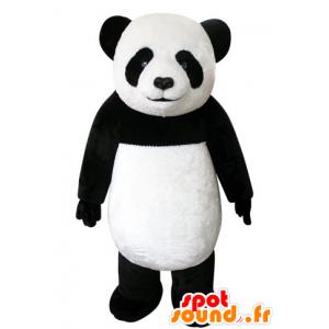 Mascotte e nero del panda bianco, bello e realistico - MASFR031553 - Mascotte di Panda