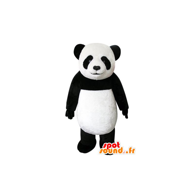 Mascot schwarzen und weißen Panda, schön und realistisch - MASFR031553 - Maskottchen der pandas