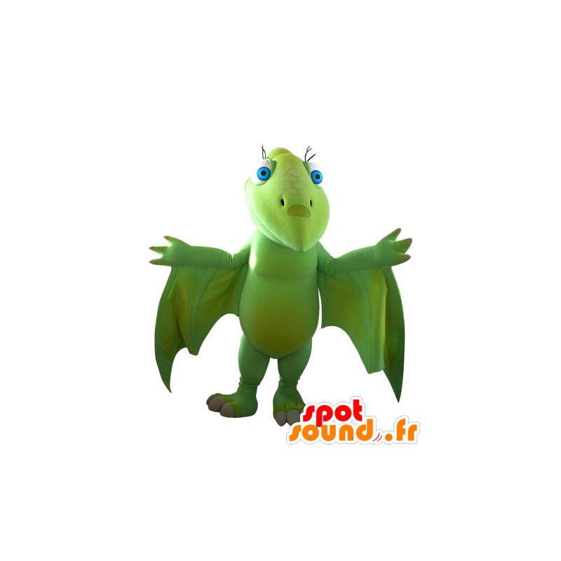 Mascotte de dinosaure volant vert impressionnant dans - Dinosaur volant ...