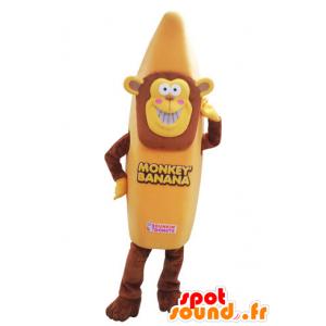 Mascotte de singe déguisé en banane. Mascotte de banane - MASFR031562 - Mascottes Singe