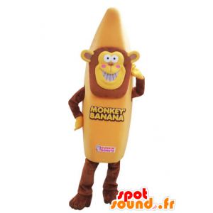 Monkey maskot kledd som en banan. banan maskot - MASFR031562 - Monkey Maskoter