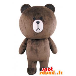 Big teddy bear mascot plump and brown