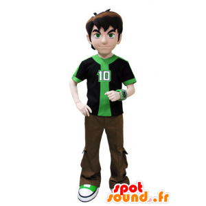 Mascot dressed in green and brown teenager - MASFR031568 - Mascots boys and girls