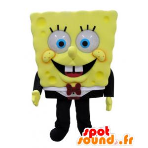 Mascot Bob Esponja, personagem de desenho animado famosa