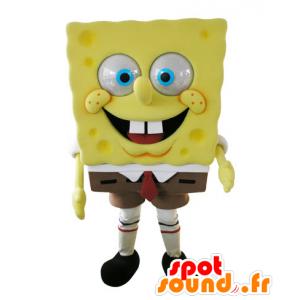 Mascot Bob Esponja, personagem de desenho animado famosa - MASFR031572 - Mascotes Bob Esponja
