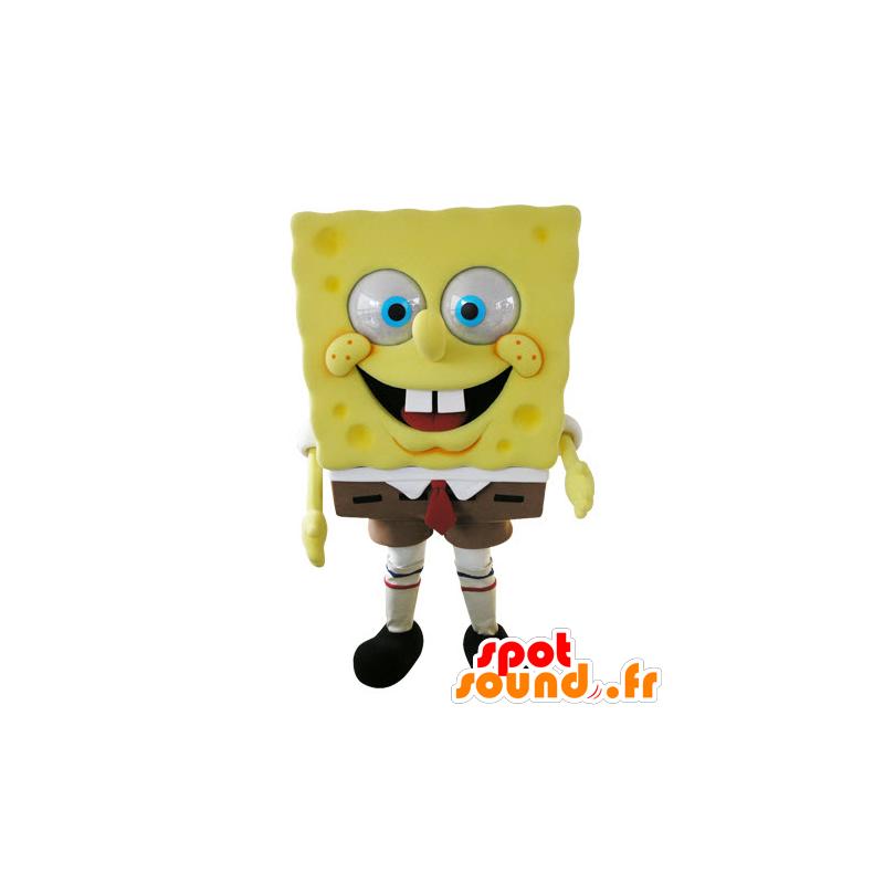 Mascot Bob Esponja Personagem De Desenho Animado Famosa Em
