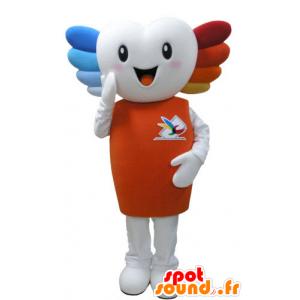 Mascot lächelnd sehr weißer Mann, für gefärbtes Haar - MASFR031574 - Menschliche Maskottchen