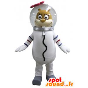 Sandy μασκότ σκίουρος διάσημο χαρακτήρα Μπομπ Σφουγγαράκης