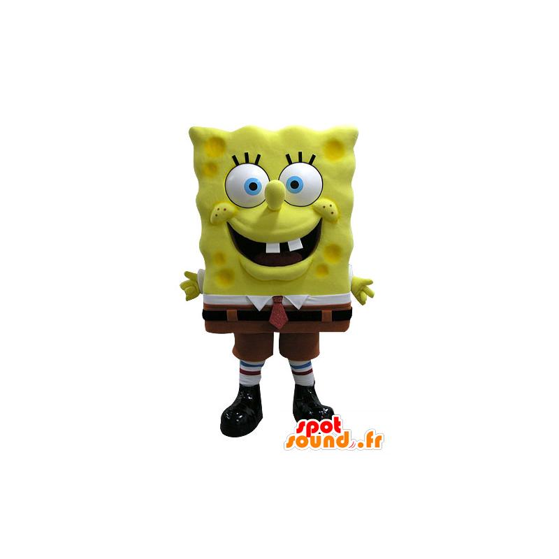 Mascotte de Bob l'éponge, célèbre personnage de dessin animé - MASFR031591 - Mascottes Bob l'éponge