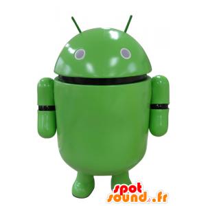 Grön robotmaskot. Android maskot - Spotsound maskot