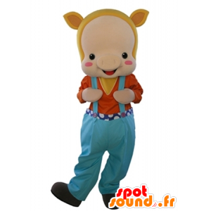 Mascot beige sika, pukeutunut haalarit - MASFR031603 - sika Maskotteja