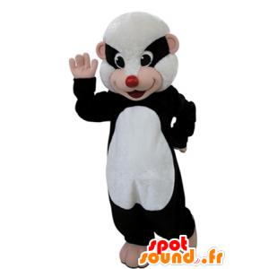 Mascot Schwarz-Weiß-Stinktier. Mascot Waschbär - MASFR031618 - Maskottchen von pups