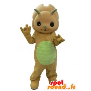 Mascote dinossauro alaranjado e amarelo muito bonito - MASFR031630 - Mascot Dinosaur